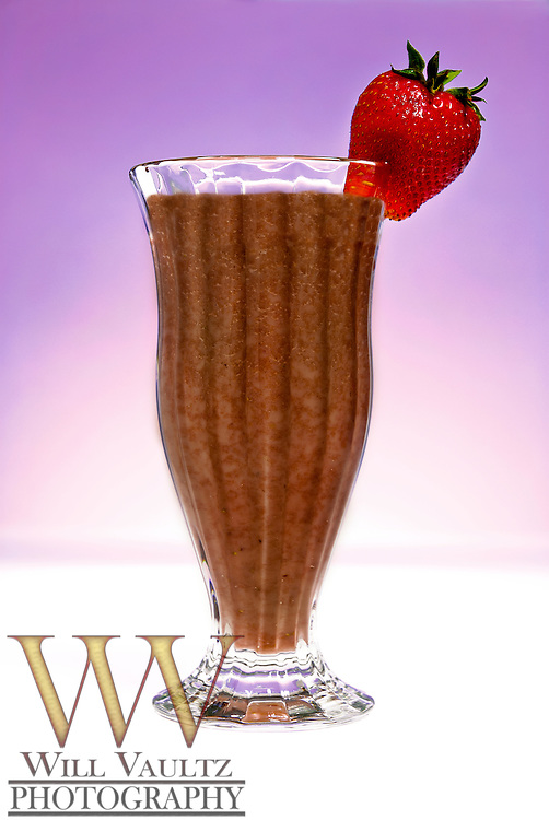 Chocolate shake with strawberry