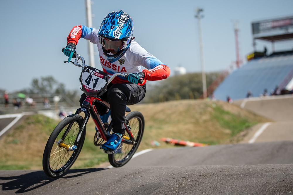 #41 (SUVOROVA Natalia) RUS  at Round 9 of the 2019 UCI BMX Supercross World Cup in Santiago del Estero, Argentina