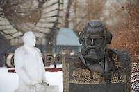 Russie, Moscou, parc des sculptures, statue de Karl Marx // Russia, Moscou, Sculptures Park, Karl Marx statue