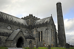 The Church of Ireland Anglican Episcopalian St. Candice's Cathedral in Kilkenny, Ireland.