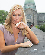 11/07/2014 repro free Actress Victoria Smurfit kicking off the HMV Supporting Irish Film party at the Galway Film Fleadh <br />  Photo: Andrew Downes.