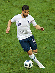 MOSCOW, RUSSIA - Tuesday, June 26, 2018: France's substitute Nabil Fekir during the FIFA World Cup Russia 2018 Group C match between Denmark and France at the Luzhniki Stadium. (Pic by David Rawcliffe/Propaganda)