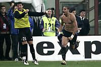 Milano 30-10-2004<br /> <br /> Campionato di calcio Serie A 2004-05<br /> <br /> Inter Lazio 1-1<br /> <br /> nella  foto Adriano esulta dopo il gol del 1-0<br /> <br /> Adriano Inter celebrates goal of 1-0<br /> <br /> Foto Snapshot / Graffiti