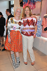 Left to right, LOUISE GRAY and SARAH MOWER at a party to celebrate the launch of Louise Gray's make-up and clothing collections for Topshop held at Topshop Edited, 286 Regent Street, London on 22nd August 2012.