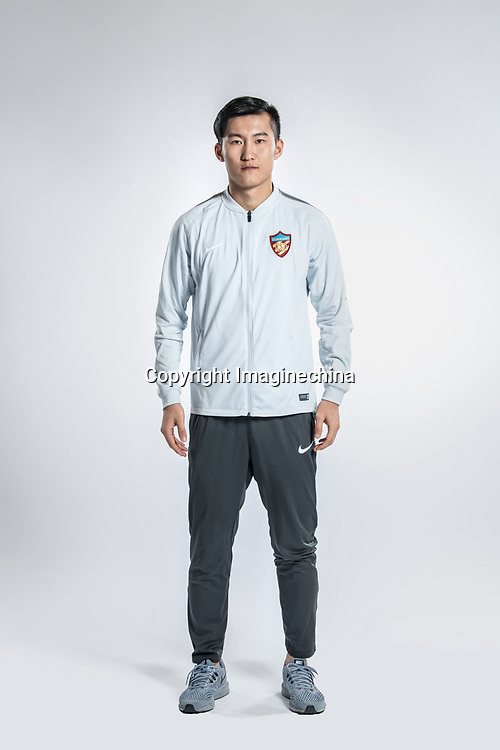 **EXCLUSIVE**Portrait of Chinese soccer player Su Yuanjie of Tianjin Quanjian F.C. for the 2018 Chinese Football Association Super League, in Yancheng city, east China's Jiangsu province, 9 February 2018.