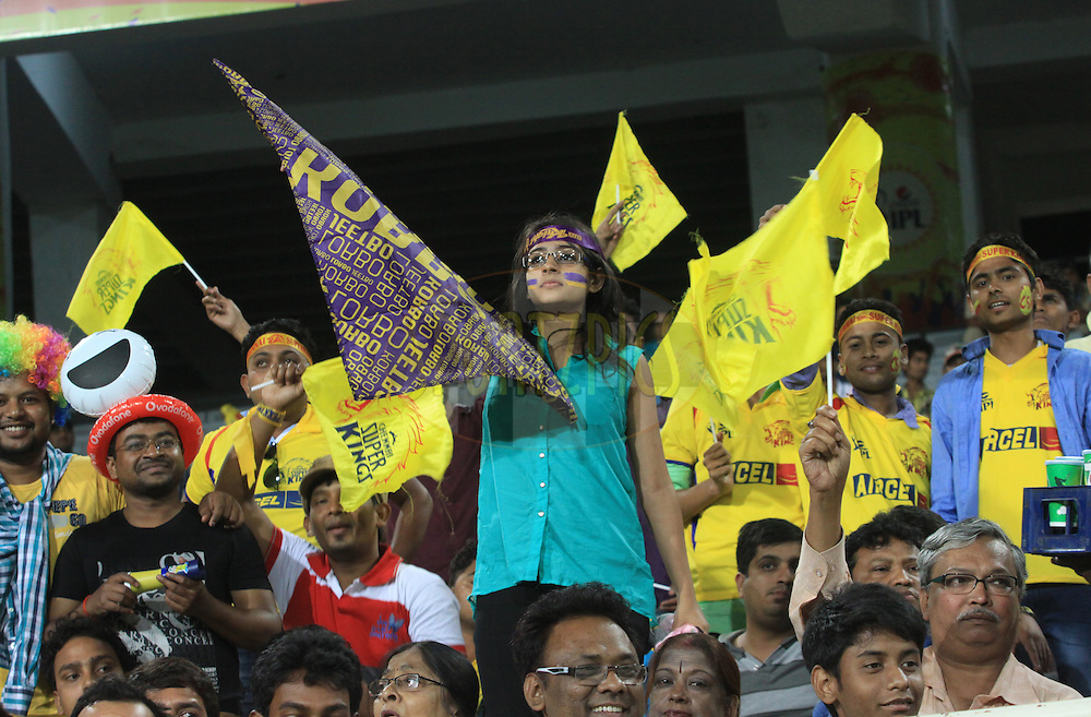 Fans during match 21 of the Pepsi Indian Premier League Season 2014 between the Chennai Superkings and the Kolkata Knight Riders  held at the JSCA International Cricket Stadium, Ranch, India on the 2nd May  2014<br /> <br /> Photo by Arjun Panwar / IPL / SPORTZPICS<br /> <br /> <br /> <br /> Image use subject to terms and conditions which can be found here:  http://sportzpics.photoshelter.com/gallery/Pepsi-IPL-Image-terms-and-conditions/G00004VW1IVJ.gB0/C0000TScjhBM6ikg