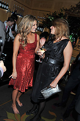 Left to right, HOLLY VALANCE and TRACEY EMIN at the 39th birthday party for Nick Candy in association with Ciroc Vodka held at 5 Cavindish Square, London on 21st Januatu 2012.