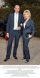 MR JEREMY NEVILLE and his wife SALLY FARMILOE former close friend of Lord Archer, at an exhibition in London on 8th September 2003.PMF 7