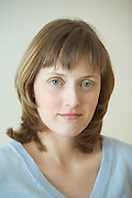 Portrait of fair-haired woman  20-25 years