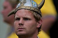 Fotball<br /> Euro 2004<br /> 18.06.2004<br /> Sverige v Italia 1-1<br /> Foto: Omega/SBI/Digitalsport<br /> NORWAY ONLY<br /> <br /> Sweden fan