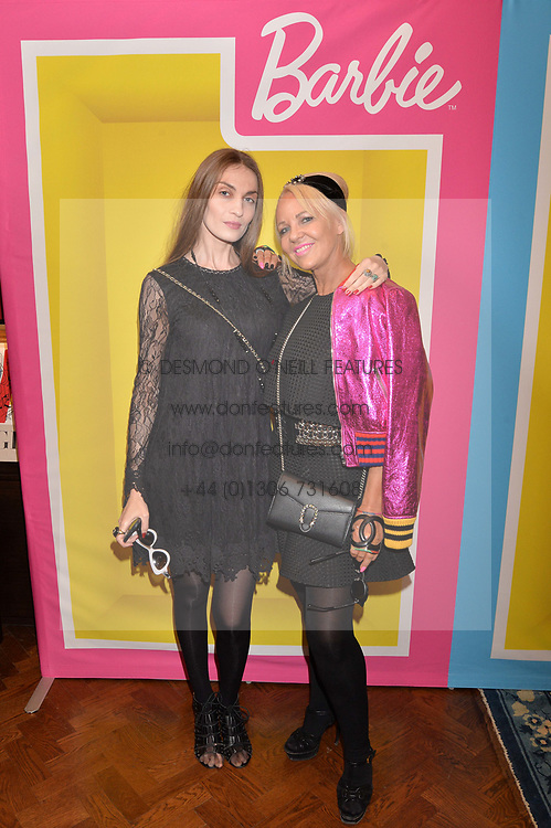 Left to right, Inesa dela Roche and Amanda Eliasch at The Art of @barbiestyle Book Launch held at Maison Assouline, Piccadilly, London on 15 June 2017.Photo by Dominic O'Neill/SilverHub 0203 174 1069/ 07711972644 - Editors@silverhubmedia.com