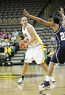 28 NOVEMBER 2007: Iowa forward Wendy Ausdemore (32) looks for an open player to pass the ball to in the first half of Georgia Tech's 76-57 win over Iowa in the Big Ten/ACC Challenge at Carver-Hawkeye Arena in Iowa City, Iowa on November 28, 2007.