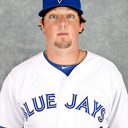 March 2, 2012; Dunedin, FL, USA; Toronto Blue Jays starting pitcher Deck McGuire (72) poses for a portrait during photo day at Florida Auto Exchange Stadium.  Mandatory Credit: Derick E. Hingle-US PRESSWIRE