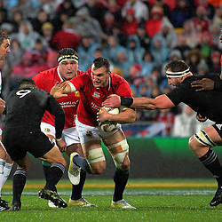 Sam Warburton in action during the 2017 DHL Lions Series 2nd test rugby match between the NZ All Blacks and British & Irish Lions at Westpac Stadium in Wellington, New Zealand on Saturday, 1 July 2017. Photo: Dave Lintott / lintottphoto.co.nz