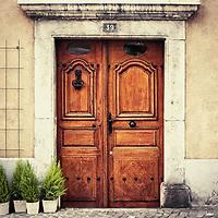 Doorway in Villeneuve, Switzerland