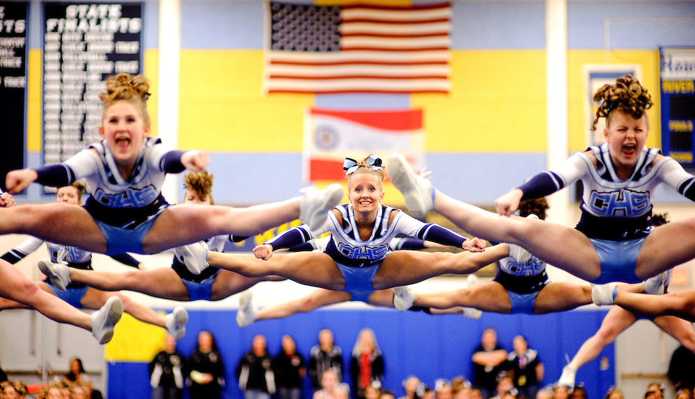 (staff photo by Matt Roth)..regional cheerleading competition at River Hill High School Thursday, February 25, 2010. .