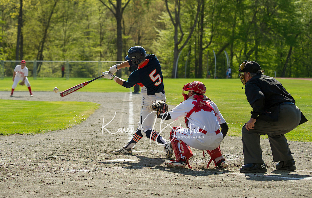 St Paul's School Varsity Baseball with Milton.    ©2016 Karen Bobotas Photographer