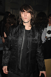 Singer IAN BROWN from the Stone Roses at a party to launch the Dom Perignon OEotheque 1995 held at The Landau, Portland Place, London W1 on 26th February 2008.<br />