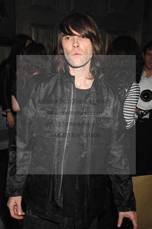 Singer IAN BROWN from the Stone Roses at a party to launch the Dom Perignon OEotheque 1995 held at The Landau, Portland Place, London W1 on 26th February 2008.<br /><br />NON EXCLUSIVE - WORLD RIGHTS