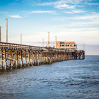 Newport Beach Pier in Orange County Southern California. Located on Balboa Peninsula in Newport Beach, Newport Pier is one of the most popular attractions in Orange County.
