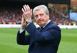 May 13, 2018 - London, England, United Kingdom - Crystal Palace manager Roy Hodgson  wave to the Fans.After the Premiership League match between Crystal Palace and West Bromwich Albion (WBA) at Selhurst Park, London, England on 13 May  2018. (Credit Image: © Kieran Galvin/NurPhoto via ZUMA Press)