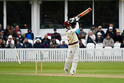 Wicket - Tom Abell of Somerset is bowled by Ben Coad of Yorkshire during the third day of the Specsavers County Champ Div 1 match between Somerset County Cricket Club and Yorkshire County Cricket Club at the Cooper Associates County Ground, Taunton, United Kingdom on 29 April 2018. Picture by Graham Hunt.