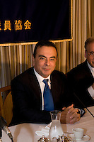 Carlos Ghosn, Nissan and Renault CEO at a round table conference with foreign journalists at the Foreign Correspondents' Club of Japan in Tokyo on October 19th 2009.