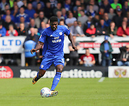 Bruno Ecuele Manga of Cardiff City during the Sky Bet Championship match at the Pirelli Stadium, Burton upon Trent<br /> Picture by Mike Griffiths/Focus Images Ltd +44 7766 223933<br /> 05/08/2017