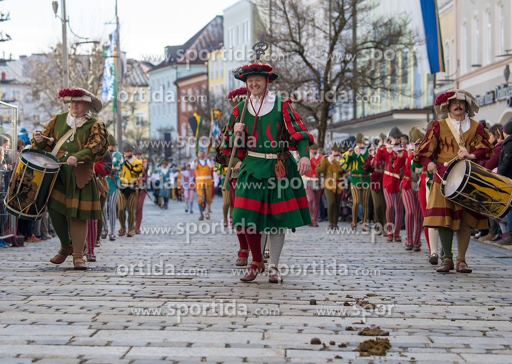 02.04.2018, Traunstein, GER, Georgi Ritt Traunstein 2018, im Bild Trommler // during the traditionell Georgi Ritt on Easter Monday in. in Traunstein, Germany on 2018/04/02. EXPA Pictures © 2018, PhotoCredit: EXPA/ Erst Wukits