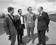 British Merchants Visit Bord Na Mona..07.06.1972..06.07.1972..7th June 1972..A group of forty British Merchants were invited by Bord na Mona to tour their works at Coolnamona,Portlaoise,Co Laois..Photograph taken of Mr G Seabright,Pershore Growers Ltd,Pershore,Warks, Mr P Beech,B.B.W.,Horticultural Requisites Ltd,Salisbury,Wilts and Mr R A McMillan,A.T.A.West Advertising Ltd,Bristol as they tour the facility.