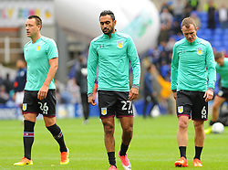 John Terry, Ahmed Elmohamady and Glenn Whelan of Aston Villa warm up - Mandatory by-line: Nizaam Jones/JMP - 29/10/2017 - FOOTBALL - St Andrew's Stadium - Birmingham, England - Birmingham City v Aston Villa - Sky Bet Championship