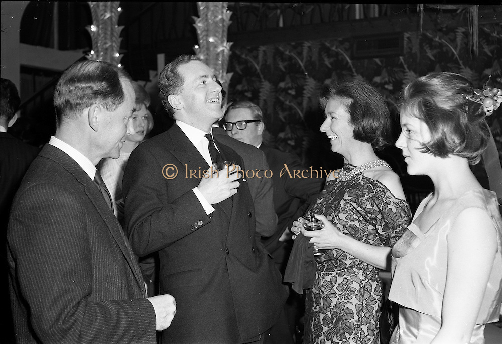 18/04/1962<br /> 04/18/1962<br /> 18 April 1962 <br /> Betty Whelan and Associates Reception at the Gresham Hotel, Dublin. At the event were (l-r): Mr R.S. Nesbitt, Director of Arnotts; Mr John Maguire; Mrs R.S. Nesbitt and Miss K. Nesbitt.