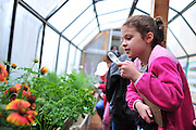ACTION at the new butterfly garden at the Holifield Science Learning Center in Plano on Wednesday, April 10, 2013. (Cooper Neill/The Dallas Morning News)