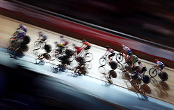 General view of riders during the Women's 20km Madison during day six of the Six Day Series at Lee Valley Velopark, London