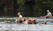 """Rio de Janeiro. BRAZIL. Gold Medalist NED LW2X. Bow. Ilse PAULIS, and Maaike<br /> HEAD, after winning the final, supporters swim out to greet and congratulate the double. 2016  2016 Olympic Rowing Regatta. Lagoa Stadium,<br /> Copacabana,  """"Olympic Summer Games""""<br /> Rodrigo de Freitas Lagoon, Lagoa. Local Time 10:40:05  Friday  12/08/2016 <br /> [Mandatory Credit; Peter SPURRIER/Intersport Images]"""