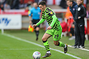 Forest Green Rovers Jack Aitchison(29), on loan from Celtic runs forward during the EFL Sky Bet League 2 match between Exeter City and Forest Green Rovers at St James' Park, Exeter, England on 12 October 2019.