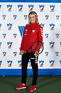 Warsaw, Poland - 2017 December 08: Tennis player Katarzyna Wysoczanska from Poland poses while Photo Session of Fed Cup Team of Polish Tennis Association at Mera Tennis Club on December 08, 2017 in Warsaw, Poland.<br /> <br /> Mandatory credit:<br /> Photo by © Adam Nurkiewicz / Mediasport<br /> <br /> Adam Nurkiewicz declares that he has no rights to the image of people at the photographs of his authorship.<br /> <br /> Picture also available in RAW (NEF) or TIFF format on special request.<br /> <br /> Any editorial, commercial or promotional use requires written permission from the author of image.
