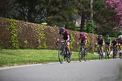 Katarzyna Niewiadoma (POL) of CANYON//SRAM Racing tries to close the gap during Liege-Bastogne-Liege - a 136 km road race, between Bastogne and Ans on April 22, 2018, in Wallonia, Belgium. (Photo by Balint Hamvas/Velofocus.com)