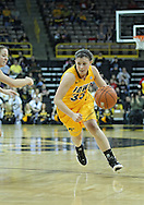 December 20, 2011: Iowa Hawkeyes guard Kathryn Reynolds (33) drives with the ball during the NCAA women's basketball game between the Drake Bulldogs and the Iowa Hawkeyes at Carver-Hawkeye Arena in Iowa City, Iowa on Tuesday, December 20, 2011. Iowa defeated Drake 71-46.