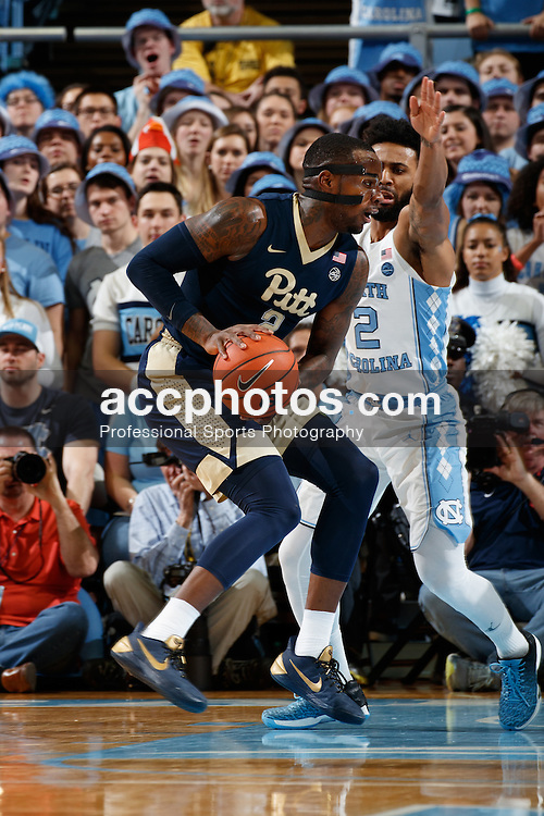 CHAPEL HILL, NC - JANUARY 31: Michael Young #2 of the Pittsburgh Panthers dribbles the ball against the North Carolina Tar Heels on January 31, 2017 at the Dean Smith Center in Chapel Hill, North Carolina. North Carolina won 80-78. (Photo by Peyton Williams/UNC/Getty Images) *** Local Caption *** Michael Young