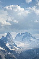 Bugaboo Spire, Howser Towers, Vowell Glacier. Bugaboo Provincial Park Purcell Mountains British Columbia.
