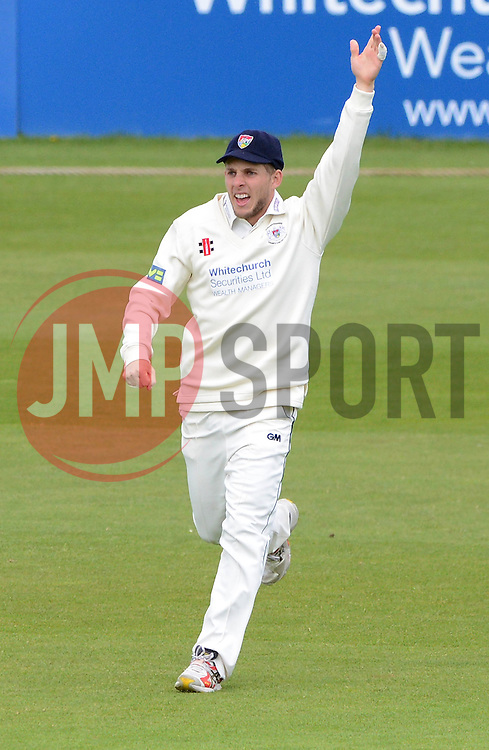 Chris Dent of Gloucestershire appeals  - Photo mandatory by-line: Dougie Allward/JMP - Mobile: 07966 386802 - 19/05/2015 - SPORT - Cricket - Bristol - County Ground - Gloucestershire v Kent - LV=County Cricket Division 2