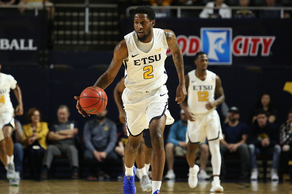 February 20, 2018 - Johnson City, Tennessee - Freedom Hall: ETSU forward David Burrell (2)<br /> <br /> Image Credit: Dakota Hamilton/ETSU