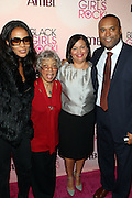 16 October 2010-New York, NY- l to r: Beverly Bond, Founder and CEO of Black Girls Rock!,  Ruby Dee, Actress,  Deb L. Lee, President and CEO of BET and Londell McMillian, Powerhouse Attorney at The Black Girls Rock! Shot Caller's Reception Presented by Beverly Bond and BET held at Fred's at Barneys New York on October 15, 2010 in New York City. ..BLACK GIRLS ROCK! Inc. is 501(c)3 non-profit youth empowerment and mentoring organization established to promote the arts for young women of color, as well as to encourage dialogue and analysis of the ways women of color are portrayed in the media. Photo Credit:.Terrence Jennings..