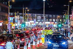 © Licensed to London News Pictures. 15/06/2018. Manchester, UK. Traffic on Wilmslow Road as people celebrate Eid-ul-Fitr , the end of a month of fasting during Ramadan , in Rusholme in Manchester . Photo credit: Joel Goodman/LNP