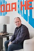 London, England, UK, February 4 2018 - Portrait of Russian art collector Igor TSUKANOV at his home in Kensington.