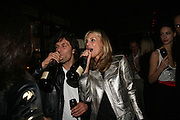 BARRY REIGATE AND KIM HERSOV, Lucy Yeomans Editor of Harper's Bazaar and Moet and Chandon host the Gold Party. 17 Berkeley St. London W1. 1 November 2007. -DO NOT ARCHIVE-© Copyright Photograph by Dafydd Jones. 248 Clapham Rd. London SW9 0PZ. Tel 0207 820 0771. www.dafjones.com.