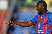 VALENCIA, SPAIN - MARCH 10: Papakouly Diop of Levante UD reacts during the Liga BBVA between Levante UD and Getafe CF at the Ciutat de Valencia stadium on February 25, 2013 in Valencia, Spain. (Photo by Aitor Alcalde Colomer).