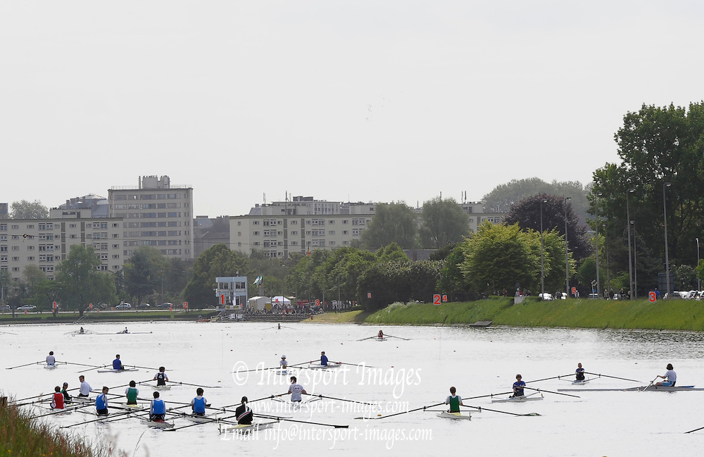 Gent, BELGIUM,  General views, as the J12 and J14s marshal for their Sat morning heats, at  the International Belgian Rowing Championships, Saturday 09/05/2009, [Mandatory Credit. Peter Spurrier/Intersport Images]