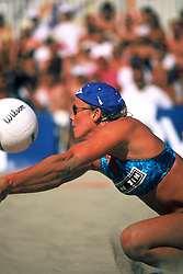 AVP/WPVA Professional Beach Volleyball/Womans Professional Volleyball - San Francisco, CA - Karoline Kirby -  Photo by Wally Nell/Volleyball Magazine